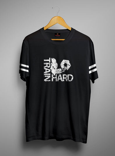 Train Hard | Men's Round Neck | Graphic Printed Premium T-Shirt - TeeClap