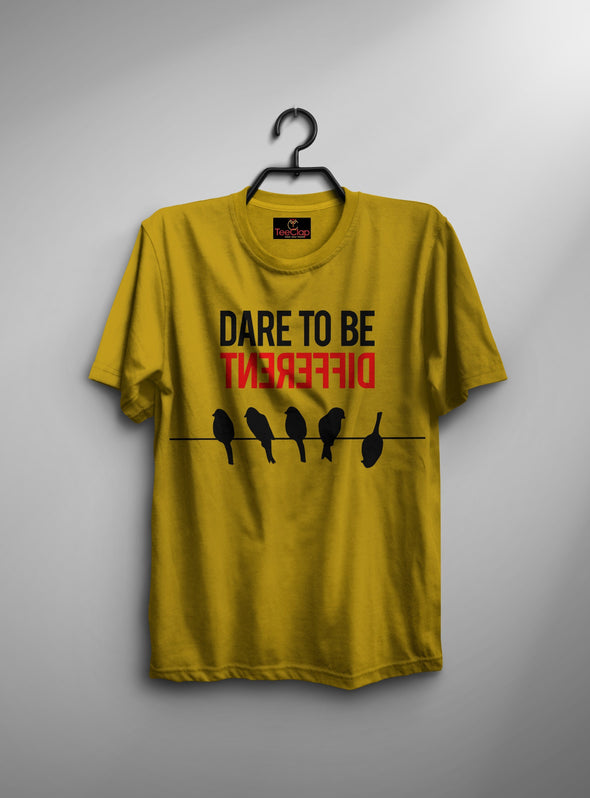 Dare To Be Different | Men's Round Neck | Graphic Printed Premium T-Shirt - TeeClap