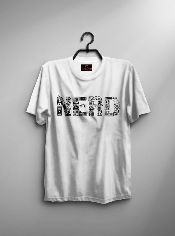 Nerd | Men's Round Neck | Graphic Printed Premium T-Shirt - TeeClap