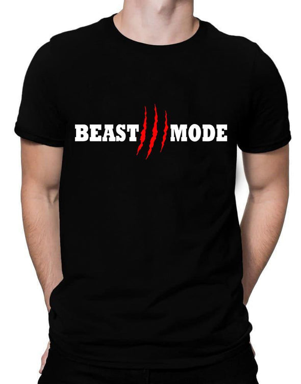 Beast Mode On Claw | Men's Round Neck | Graphic Printed Premium T-Shirt - TeeClap