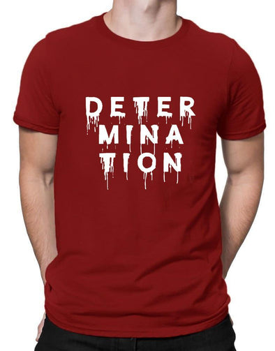 Determination | Men's Round Neck | Graphic Printed Premium T-Shirt - TeeClap