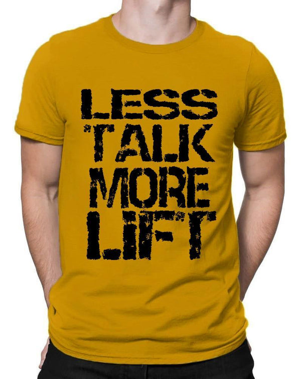Less Talk More Lift | Men's Round Neck | Graphic Printed Premium T-Shirt - TeeClap