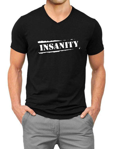 Insanity | Men'S V Neck T Shirt - TeeClap