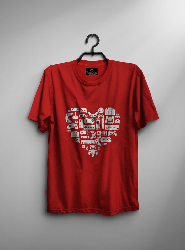 Love Different Game Remote | Men's Round Neck | Graphic Printed Premium T-Shirt - TeeClap