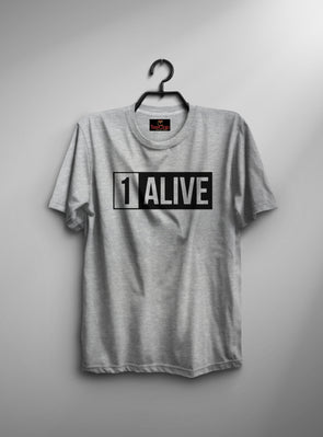 Pubg 1 Alive | Men's Round Neck | Graphic Printed Premium T-Shirt - TeeClap
