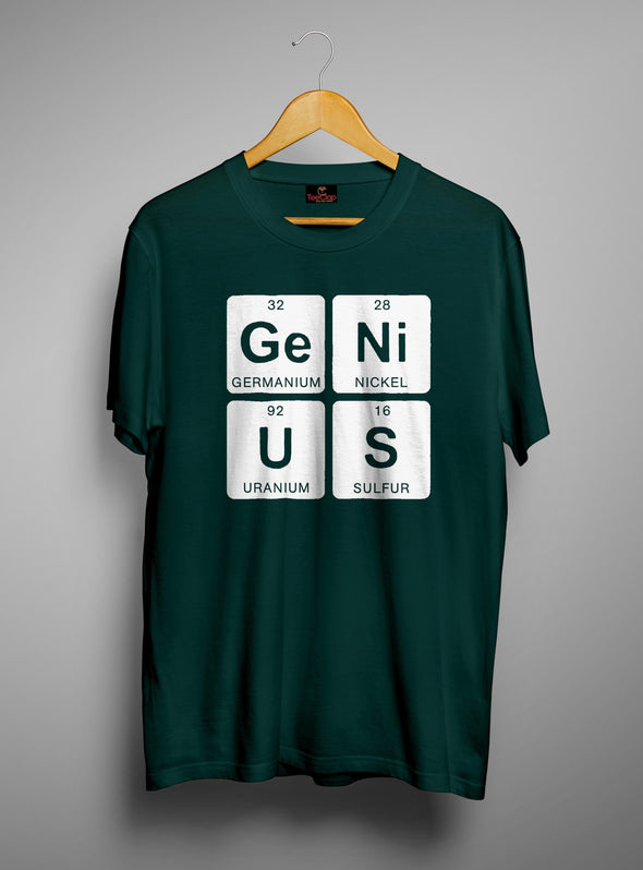 Genius | Men's Round Neck | Graphic Printed Premium T-Shirt - TeeClap