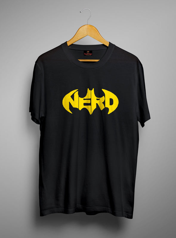 Nerd Batman | Men's Round Neck | Graphic Printed Premium T-Shirt - TeeClap