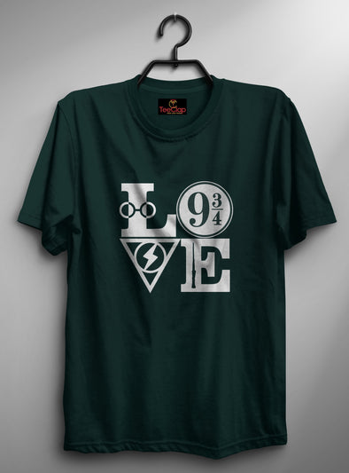 Love Magic | Men's Round Neck | Graphic Printed Premium T-Shirt - TeeClap