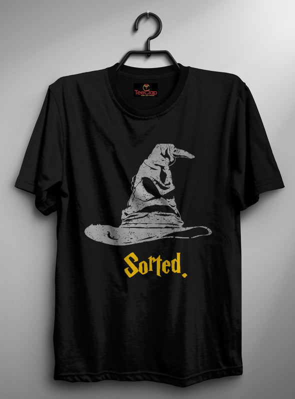 Sorted | Men's Round Neck | Graphic Printed Premium T-Shirt - TeeClap