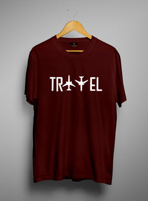 Travel | Men's Round Neck | Graphic Printed Premium T-Shirt
