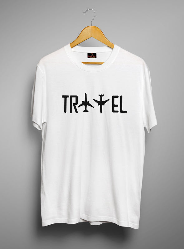 Travel | Men's Round Neck | Graphic Printed Premium T-Shirt - TeeClap