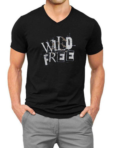 Wild Free | Men'S V Neck T Shirt