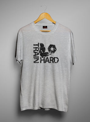 Train Hard | Men's Round Neck | Graphic Printed Premium T-Shirt