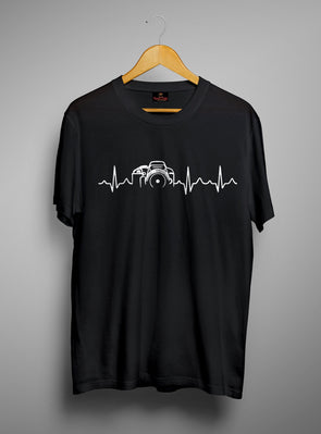 Photography Heartbeats | Men's Round Neck | Graphic Printed Premium T-Shirt - TeeClap