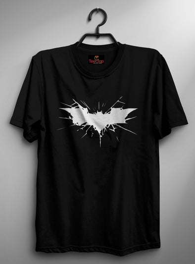 Batman Logo Cracked | Men's Round Neck | Graphic Printed Premium T-Shirt - TeeClap