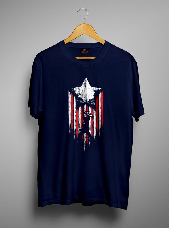 Captain America First Avenger | Men's Round Neck | Graphic Printed Premium T-Shirt - TeeClap