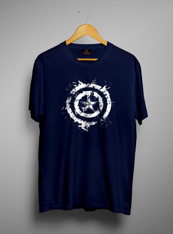 Captain America Shield | Men's Round Neck | Graphic Printed Premium T-Shirt - TeeClap