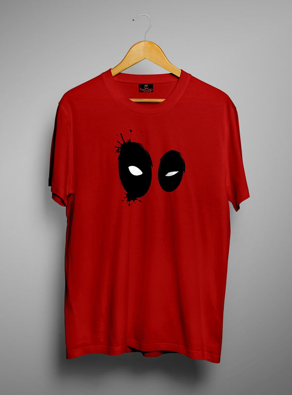 Deadpool Eyes | Men's Round Neck | Graphic Printed Premium T-Shirt - TeeClap