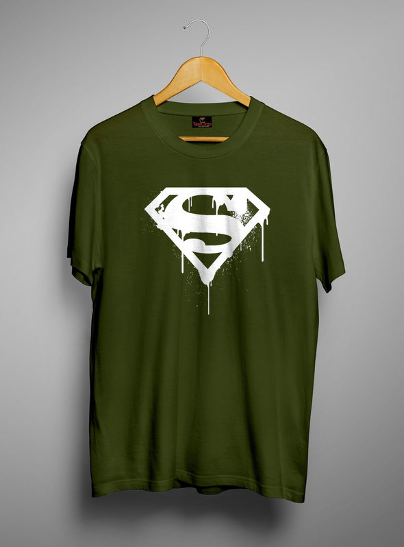 Superman | Men's Round Neck | Graphic Printed Premium T-Shirt - TeeClap