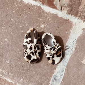 Baby slippers leopard