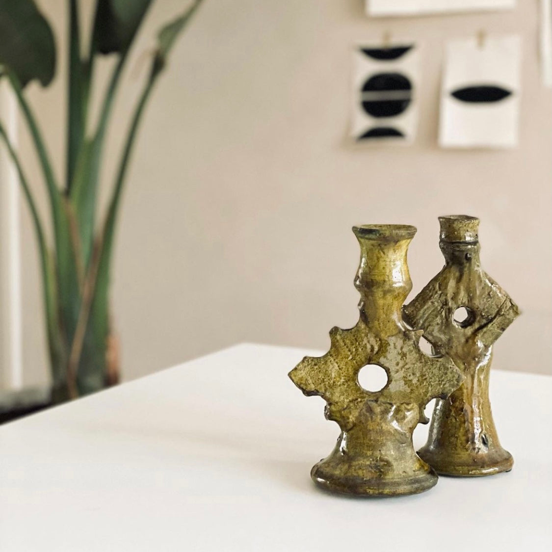 Tamegroute candle holder rhombus mustard