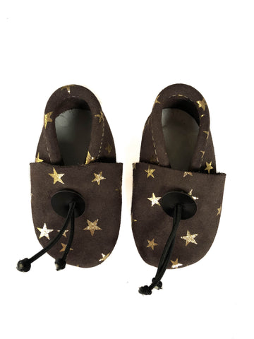 Mini babouches Stars gold