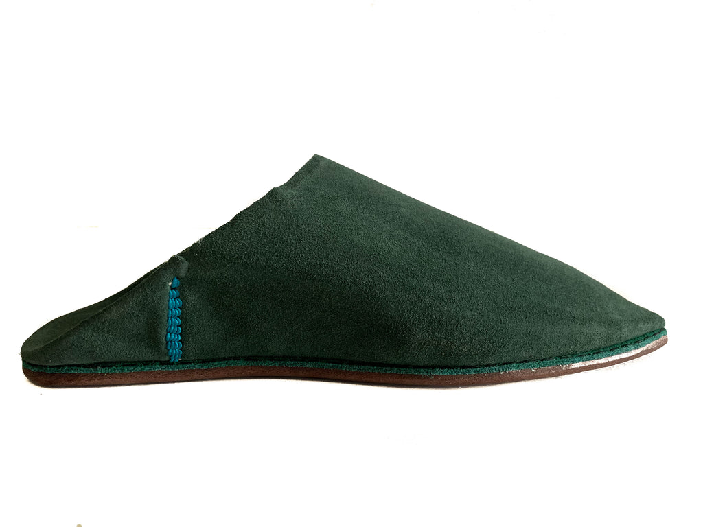 Suede mules Ifrane green