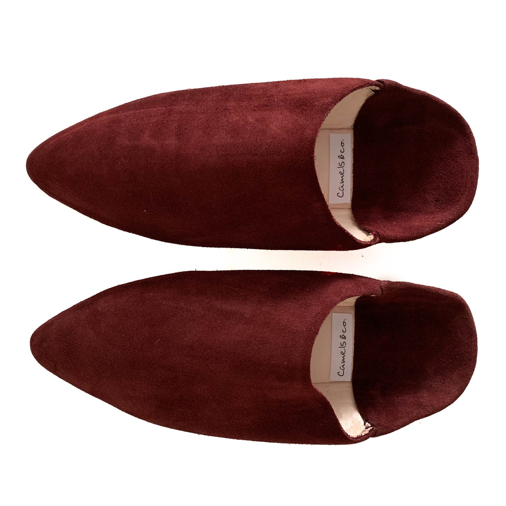 Suede mules Marrakesh red