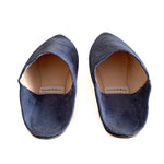 Load image into Gallery viewer, Suede mules Tanger blue