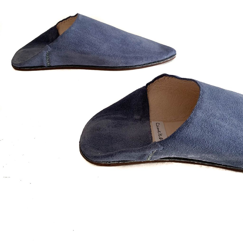 Suede mules Tanger blue