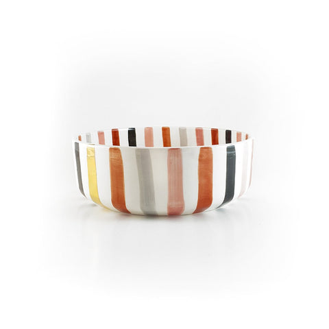 Large bowl Lines Terracotta