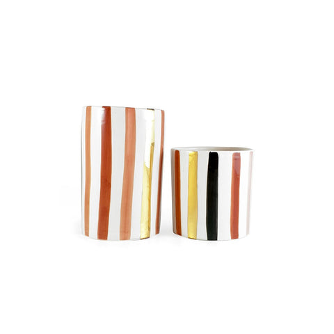Chabi Chic - Vase Lines Terracotta Large