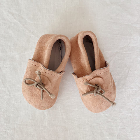 Baby slippers peach