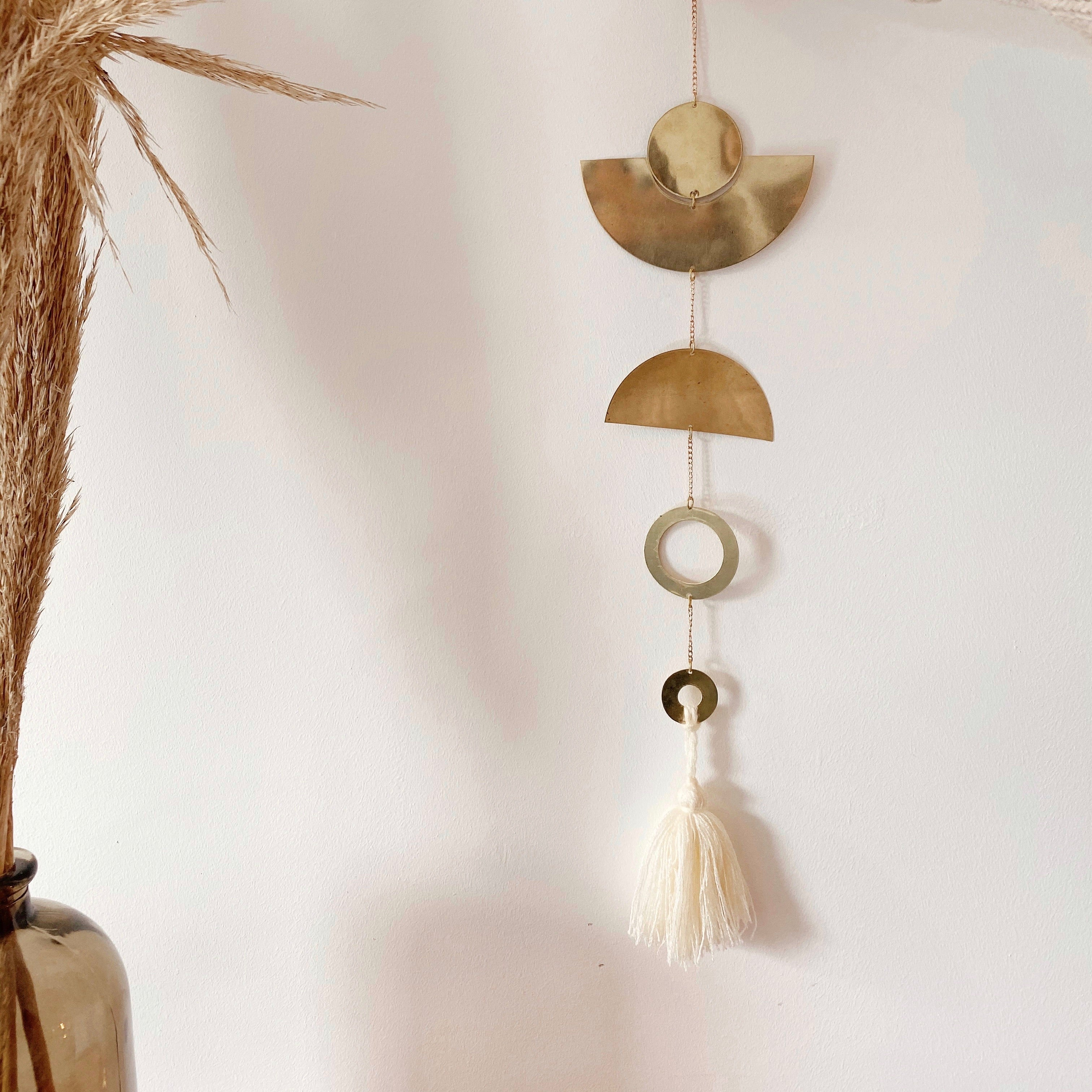 """Moon & tassel"" garland"