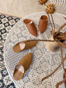 Leather mules Brown