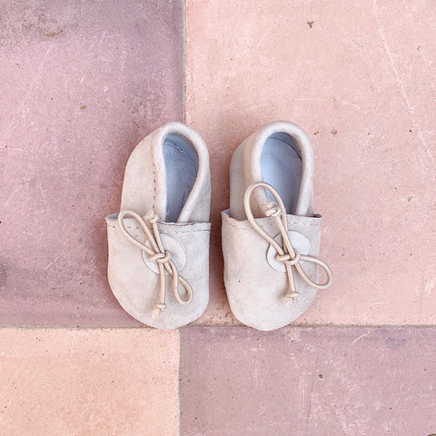 Baby slippers beige