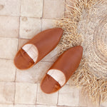 Afbeelding in Gallery-weergave laden, Leather mules Brown