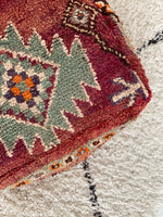 Load image into Gallery viewer, Vintage Berber pouf