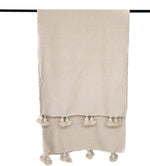 Load image into Gallery viewer, Pom pom blanket beige L