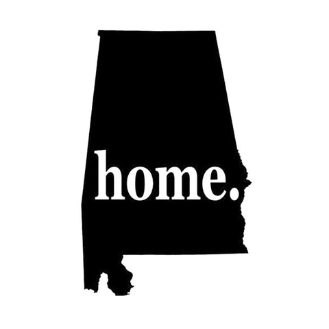10X15.7CM ALABAMA HOME STATE Originality Vinyl Decal Black/Silver Car Sticker Car-styling S8-0918 - Don't Abbreviate Me