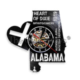 1Piece Alabama Heart Of Dixie Vinyl Record Wall Clock - Don't Abbreviate Me