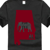 Adult T Shirt Short Sleeve Cotton Alabama Al Classic Elephant Cotton Short Sleeve T Shirts - Don't Abbreviate Me