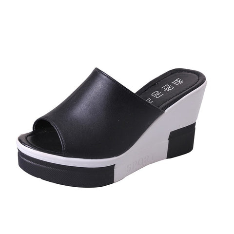 New Summer Women's Sandals Peep-Toe Shoes Woman High-Heeled Platfroms Casual Wedges For Women High Heels Shoes - Don't Abbreviate Me