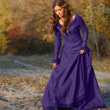Womens Ladies Cotton Long Prom Formal  Party Bridesmaids Gowns Full Dress Black Blue Purple