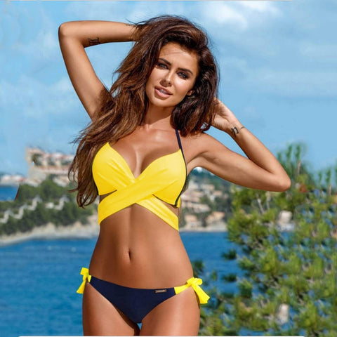 Unabbreviated Push Up Swimwear Women Two Piece Swimsuit Split Bikini Set Biquini - Don't Abbreviate Me