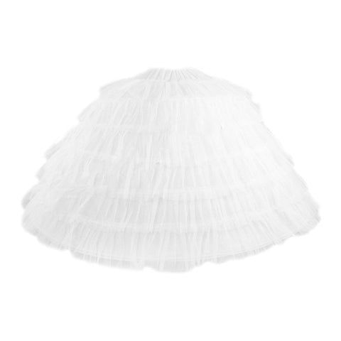 Women Bridal Wedding   underskirt Big Petticoat Floor Length 6 Steel Hoops 6 Layer Yarn Elastic Waistband Crinoline Ball Gown HM - Don't Abbreviate Me