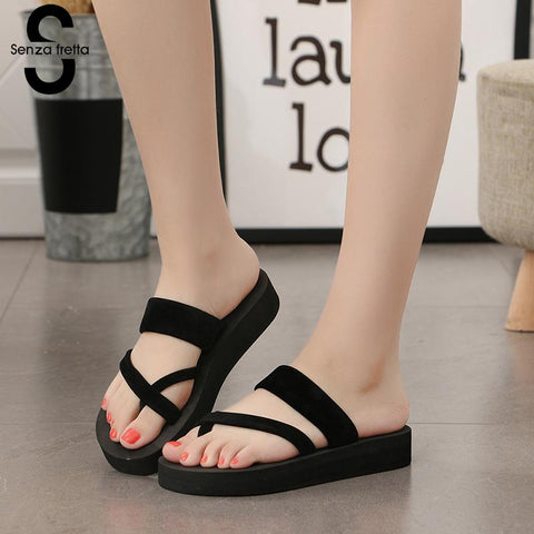 Unabbreviated Women Summer Non-slip Platform Shoes Wedges High Heel Woman Outdoor Beach Slippers - Don't Abbreviate Me