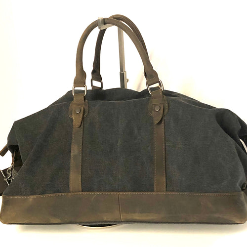 DUFFLE BAG WITH LEATHER TRIM
