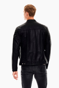 MEN'S SOFT VEGAN BIKE JACKET