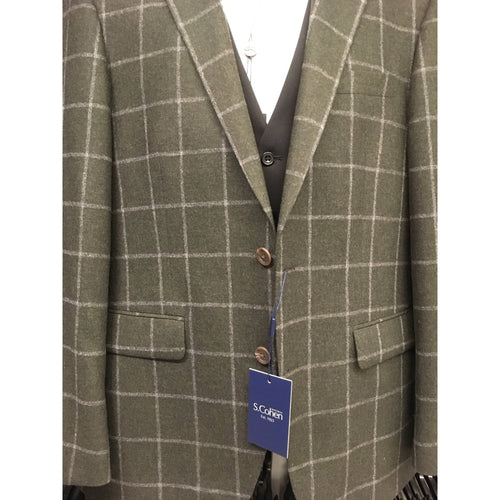 SETH WINDOWPANE SPORT JACKET-The Men's Shoppe & Her Boutique